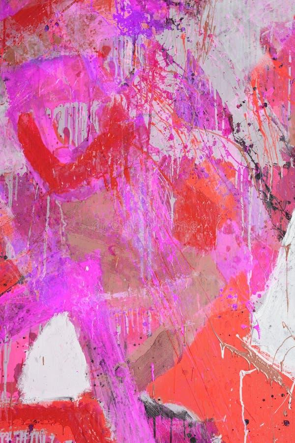 Techniques mélangées, peinture abstraite photographie stock