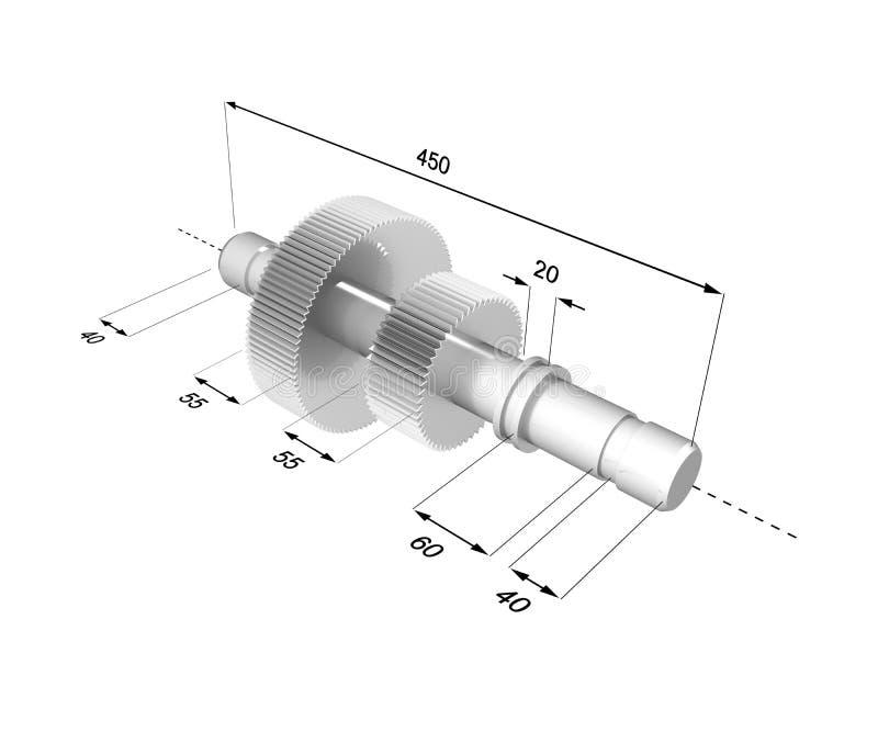 Technisch beeld #1 vector illustratie