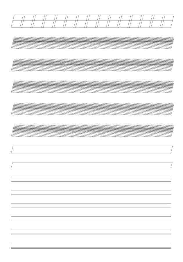 Technisch Cursief het Schrijven Malplaatje vector illustratie