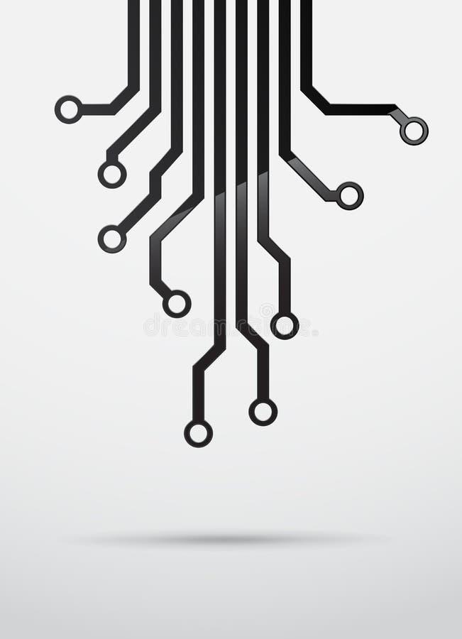 Technische achtergrond royalty-vrije illustratie