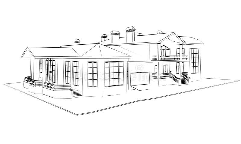 Technische de architectuur trekt vector illustratie