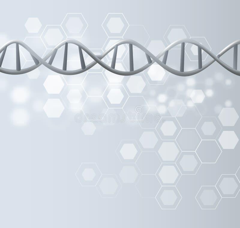 Technische de wetenschapsachtergrond van DNA Vector eps10 royalty-vrije illustratie