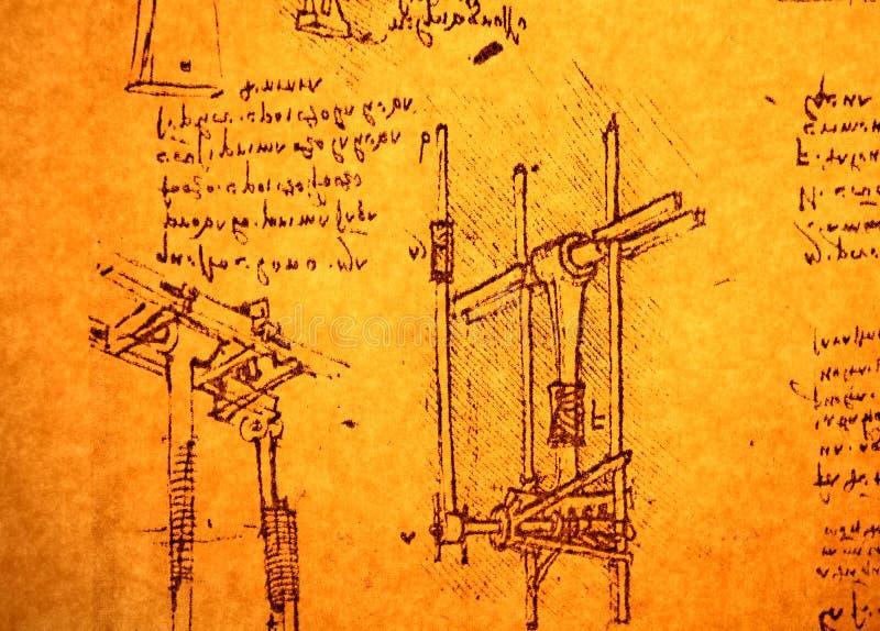 Technische Konstruktionszeichnung stockbilder