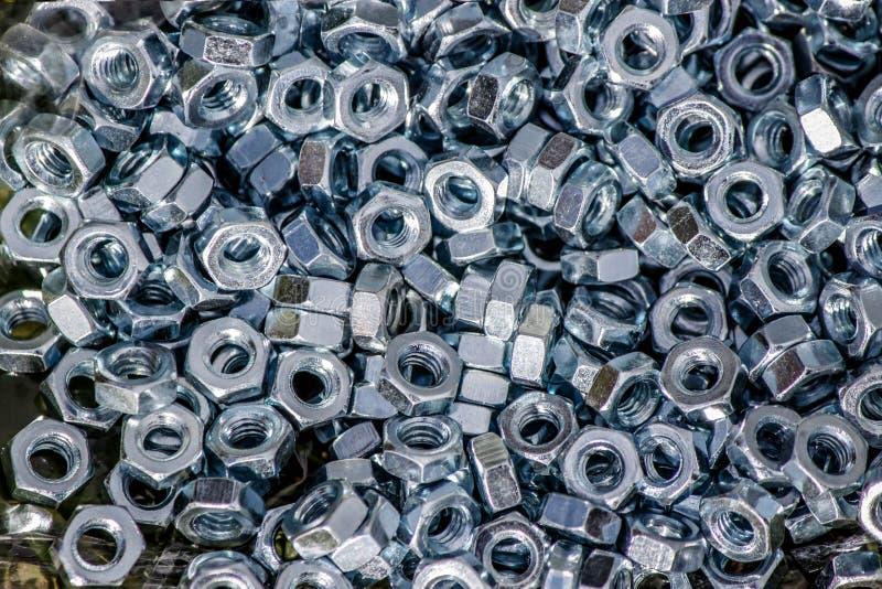 Technische Nüsse und Schrauben lösen lizenzfreie stockfotografie