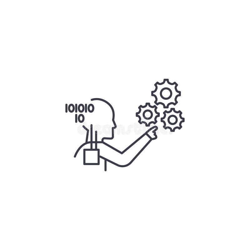 Technische Prozessverständnisvektorlinie Ikone, Zeichen, Illustration auf Hintergrund, editable Anschläge vektor abbildung