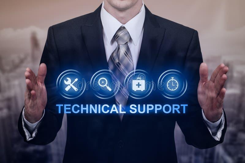 Technische Stützkunden-Dienstleistungsunternehmen-Technologie-Internet-Konzept lizenzfreie stockfotografie