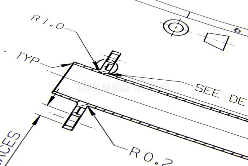 Technische tekening royalty-vrije stock foto's