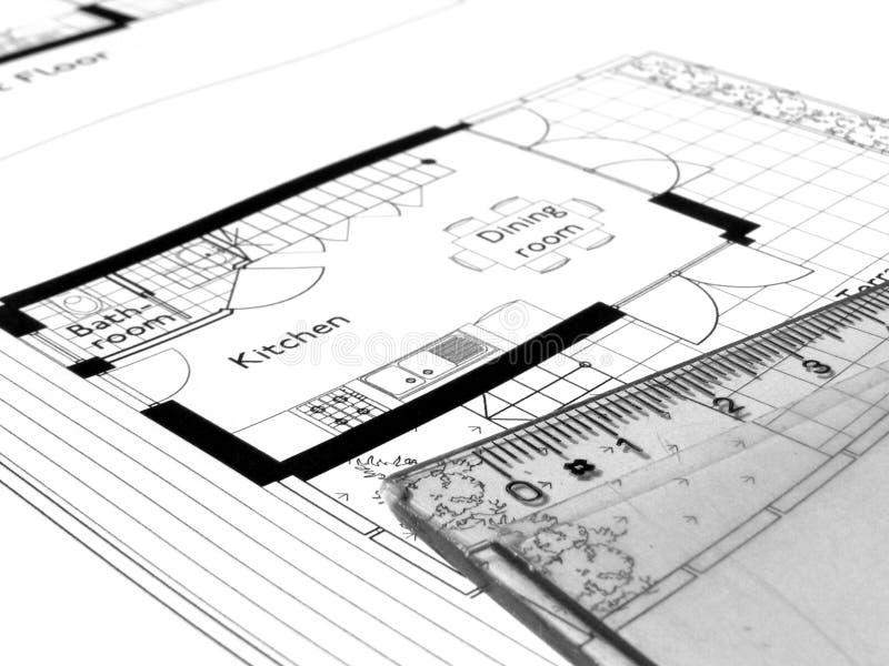Technische tekening royalty-vrije stock afbeeldingen