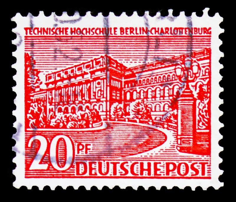 Technische Univercity, Berlijn-Charlottenburg, serie, circa 1952 royalty-vrije stock foto's