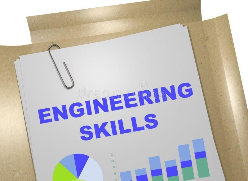 Technische vaardigheden - bedrijfsconcept vector illustratie