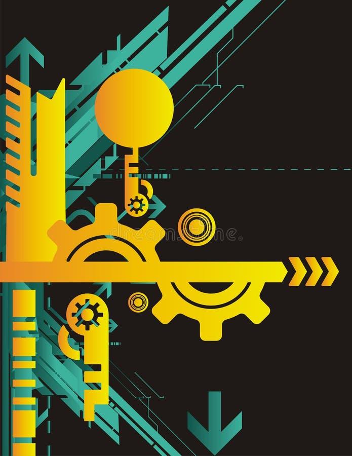 Technischer Hintergrund-Serie stock abbildung