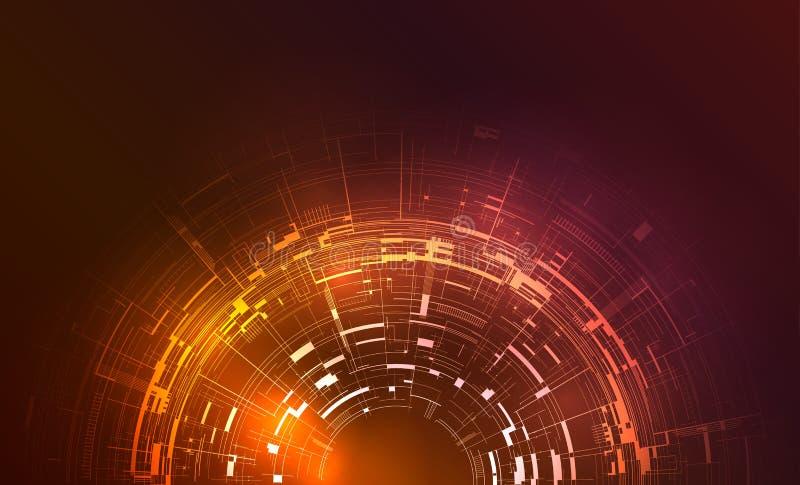 Technischer Kreishintergrund mikrochips Vektor-Hintergrund für lizenzfreie abbildung