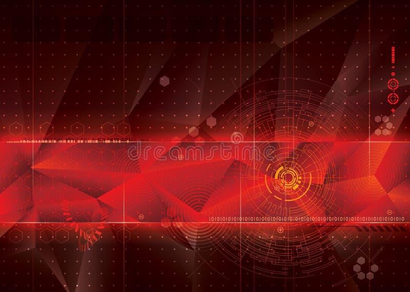 Technischer roter Hintergrund stockfotos