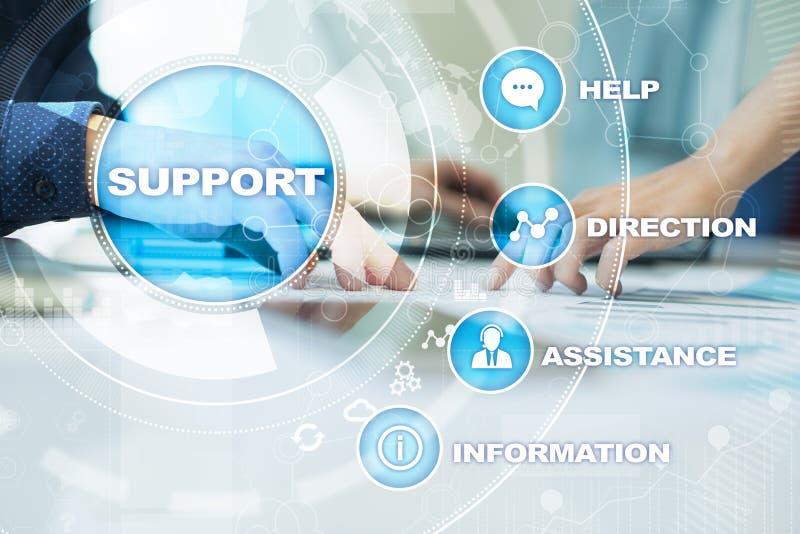 Technischer Support Kundenhilfe Geschäfts- und Technologiekonzept vektor abbildung