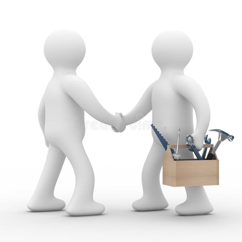 Technischer Support. Online-Service lizenzfreie abbildung