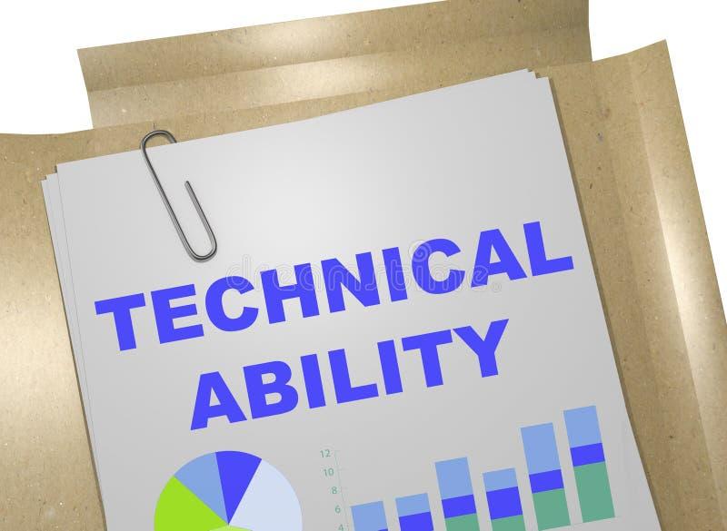 Technisches Fähigkeitskonzept lizenzfreie abbildung