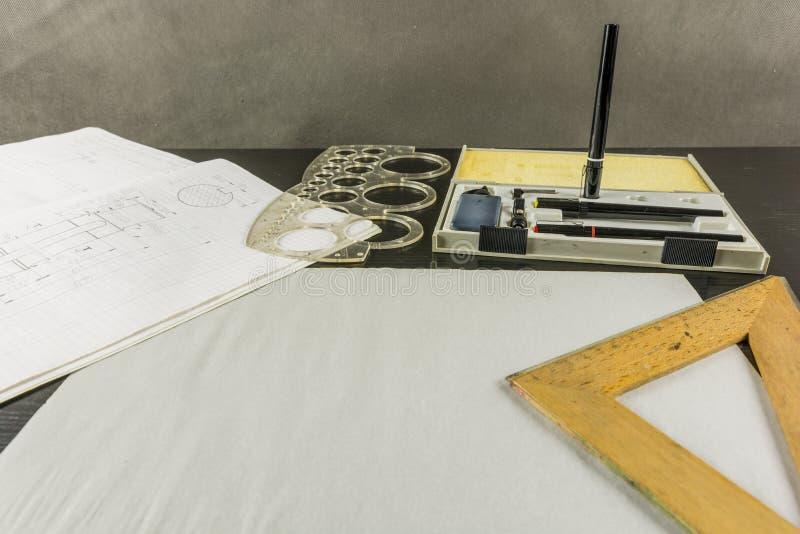 Technisches Zeichnungsdesign lizenzfreie stockfotografie