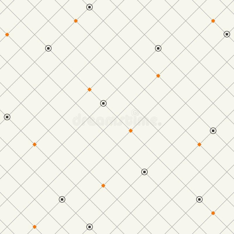 Techno方形的几何样式背景 库存例证