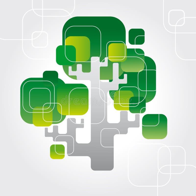 techno结构树向量 库存例证