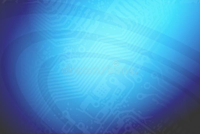 Techno蓝色背景 库存例证