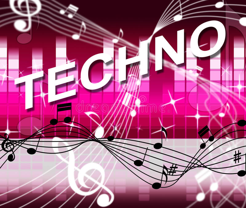 Techno音乐代表声槽和音频 皇族释放例证