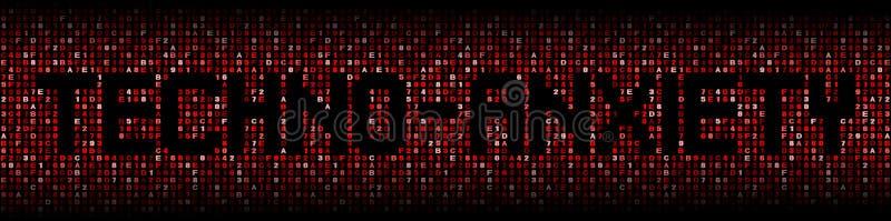 Techno-ångest text förhäxer på kodillustrationen vektor illustrationer