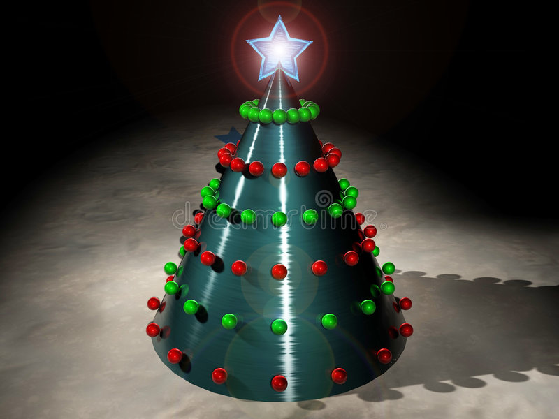techno Χριστουγέννων ελεύθερη απεικόνιση δικαιώματος