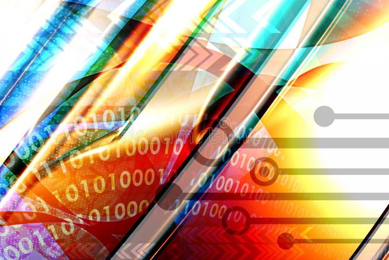 techno предпосылки multicolor иллюстрация вектора