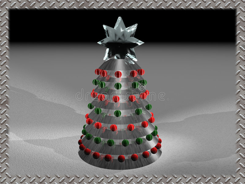 techno рождества 2 иллюстрация вектора
