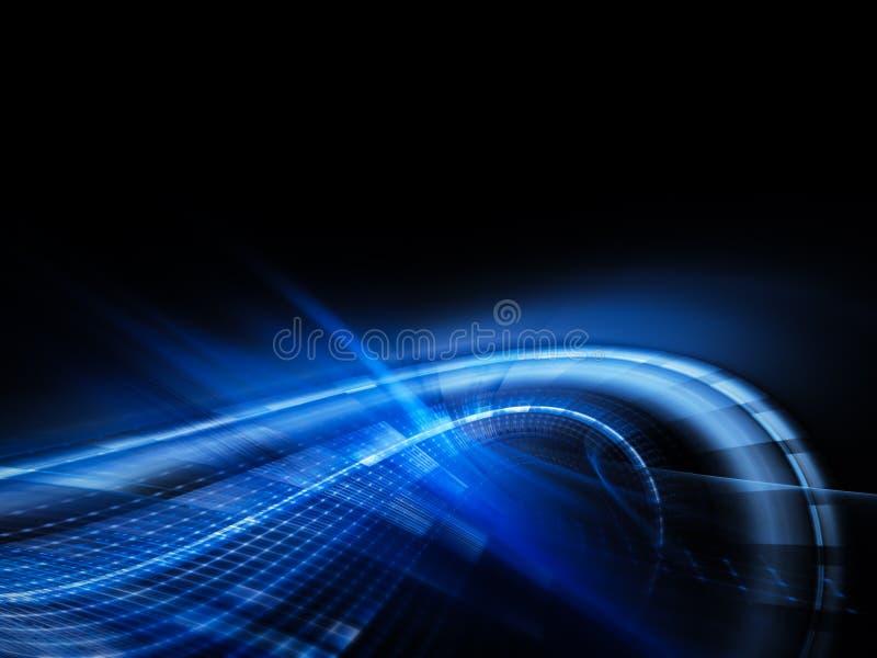 techno сини абстракции бесплатная иллюстрация