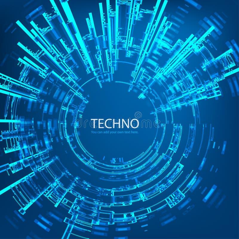 Techno 4 vektor illustrationer