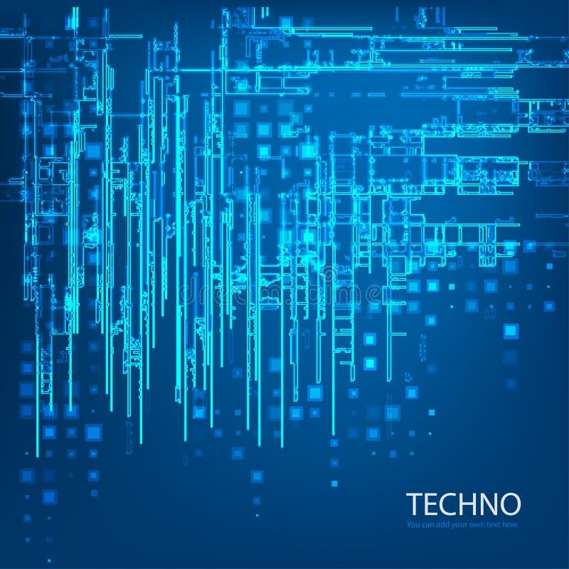 Techno 5 vektor illustrationer