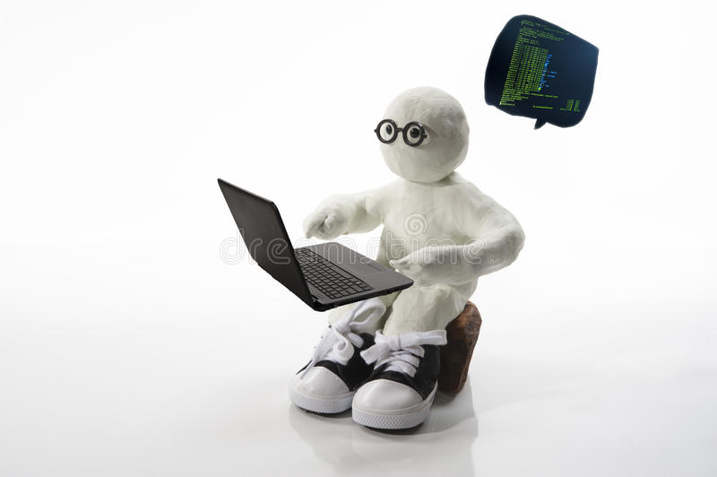 Techno Andy. Is your typical programmer always thinking of ways to code software better. Commercial use stock photography