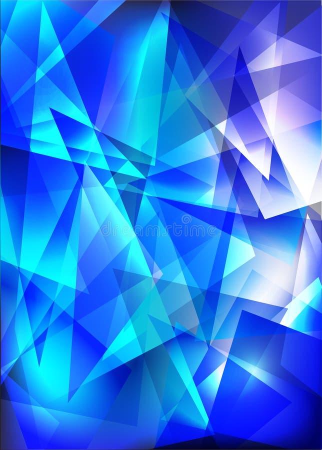 Techno azul brilhante ilustração royalty free