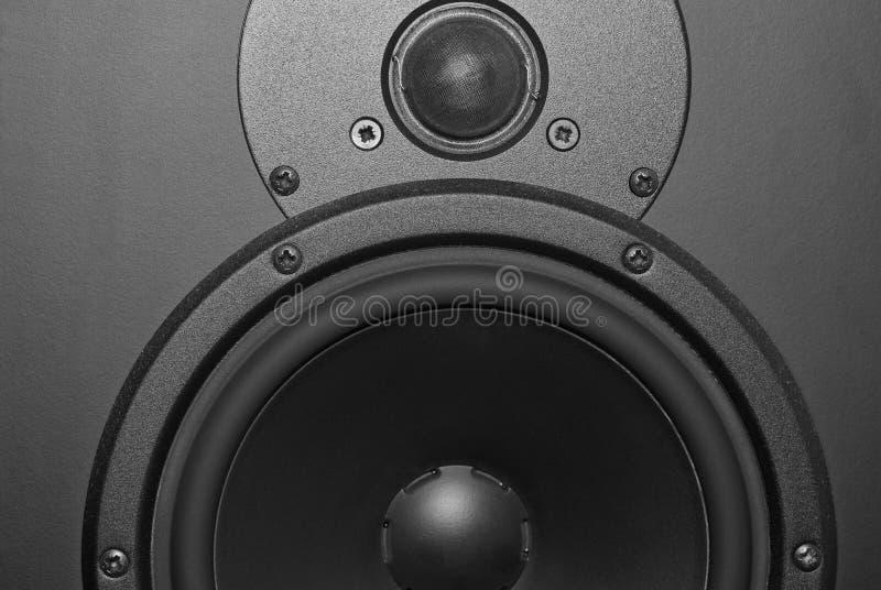 Techno background. A Techno black and white background - loudspeaker stock photos