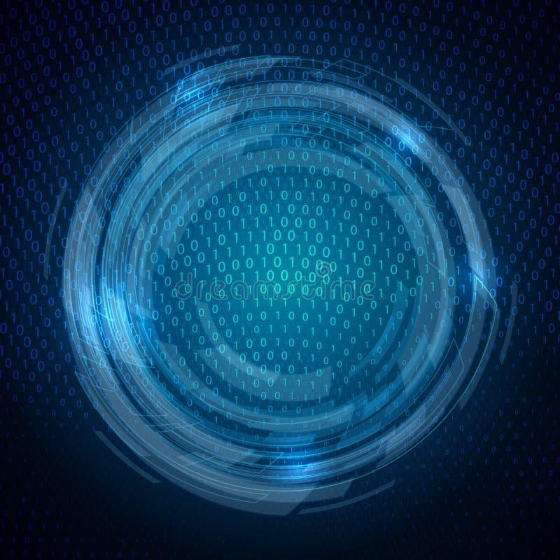 Techno binarnego kodu tło ilustracji