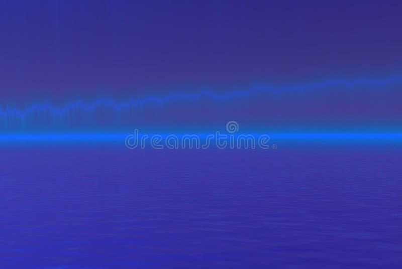 Techno Blue. Blue reflexions with techno like sensation vector illustration