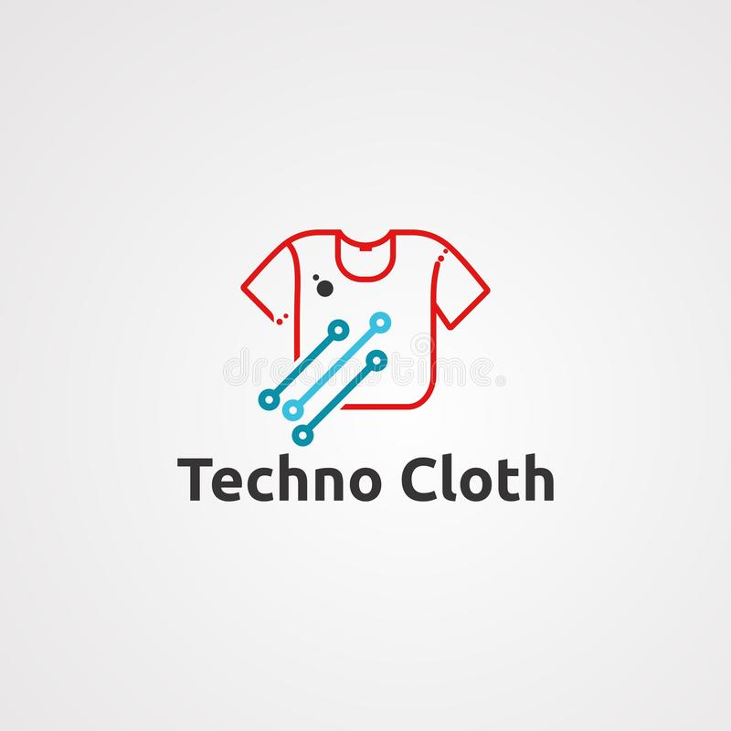 Techno cloth logo vector, icon, element, and template for company vector illustration