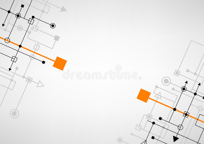Techno connect background stock illustration