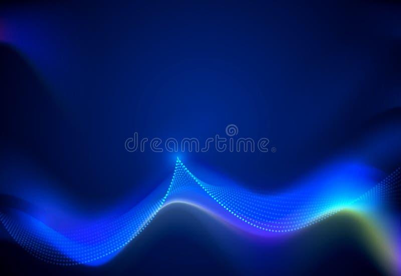 Techno de communication de conception de vecteur sur le fond bleu Technologie numérique futuriste pour le fond de Web ou de banni illustration libre de droits