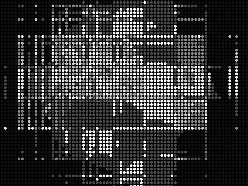 Download Techno Dots stock illustration. Image of random, irregular - 5200303
