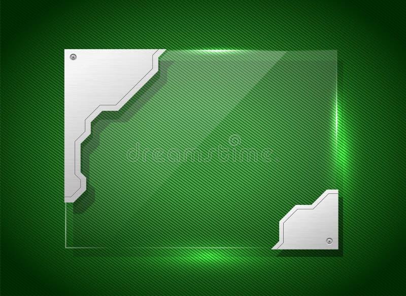 Techno exponeringsglasbaner vektor illustrationer
