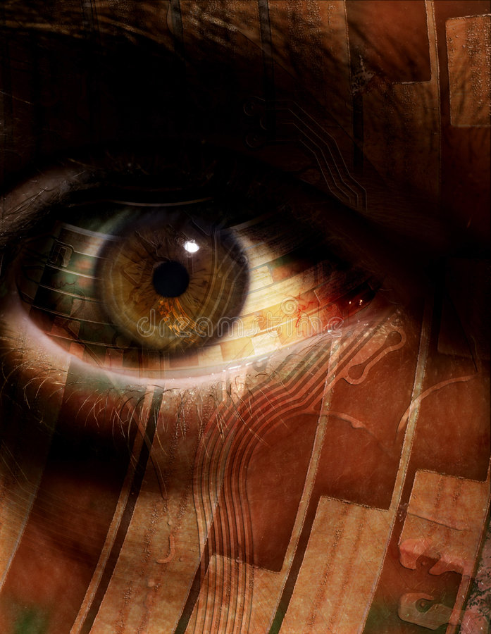 Techno Eye royalty free stock photos