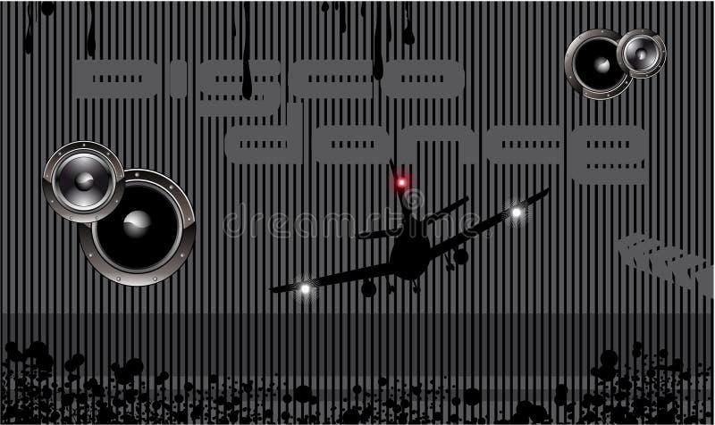 techno för bakgrundsdiskohändelse stock illustrationer