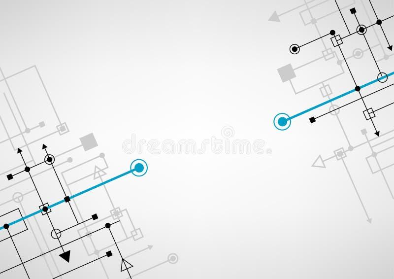 Techno förbinder bakgrund royaltyfri illustrationer