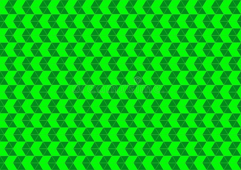 Techno geometriskt orientaliskt dekorativt i tapet för bakgrund för modell för grön färg för neon sömlös royaltyfri illustrationer