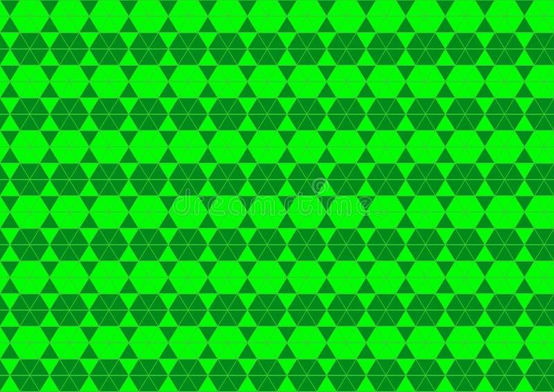 Techno geometriskt orientaliskt dekorativt i tapet för bakgrund för modell för grön färg för neon sömlös vektor illustrationer