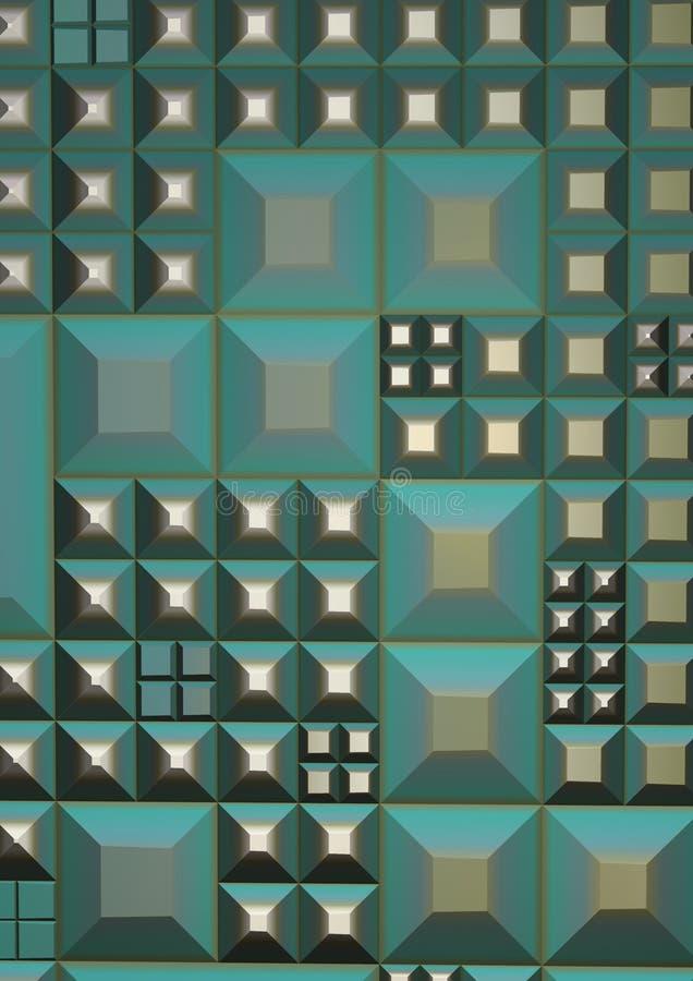 Techno Groene Grunge vector illustratie