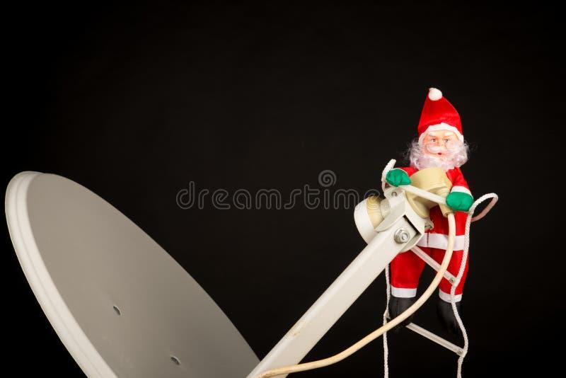 Techno-jultomten fotografering för bildbyråer