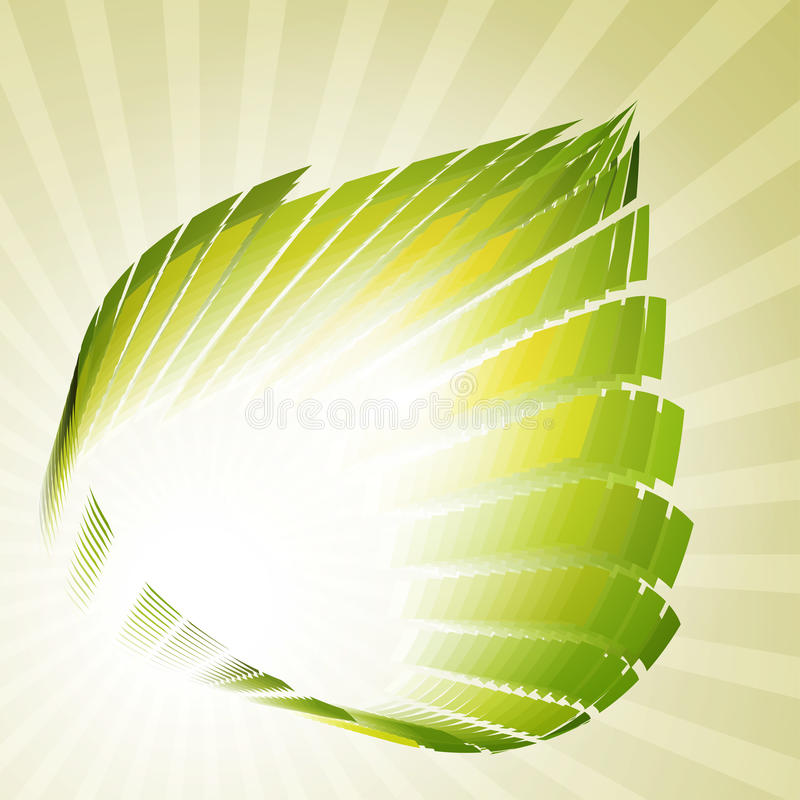 Download Techno-leaf retro stock vector. Illustration of natural - 16668989